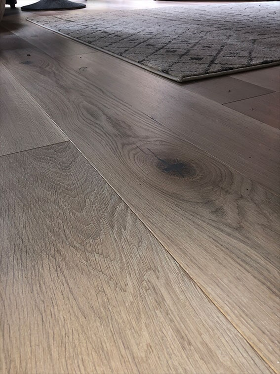 Engineered hardwood installation in San Mateo, CA by Luxor Floors Inc.