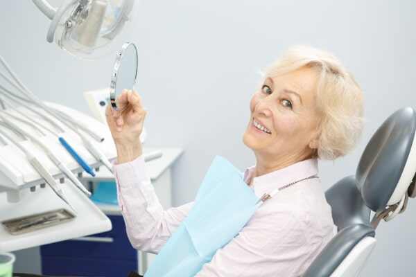 associates denture-senior woman