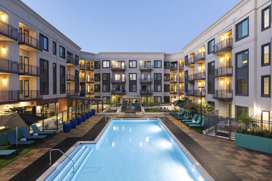 Commercial apartment flooring near Los Altos, CA by The Carpet Center