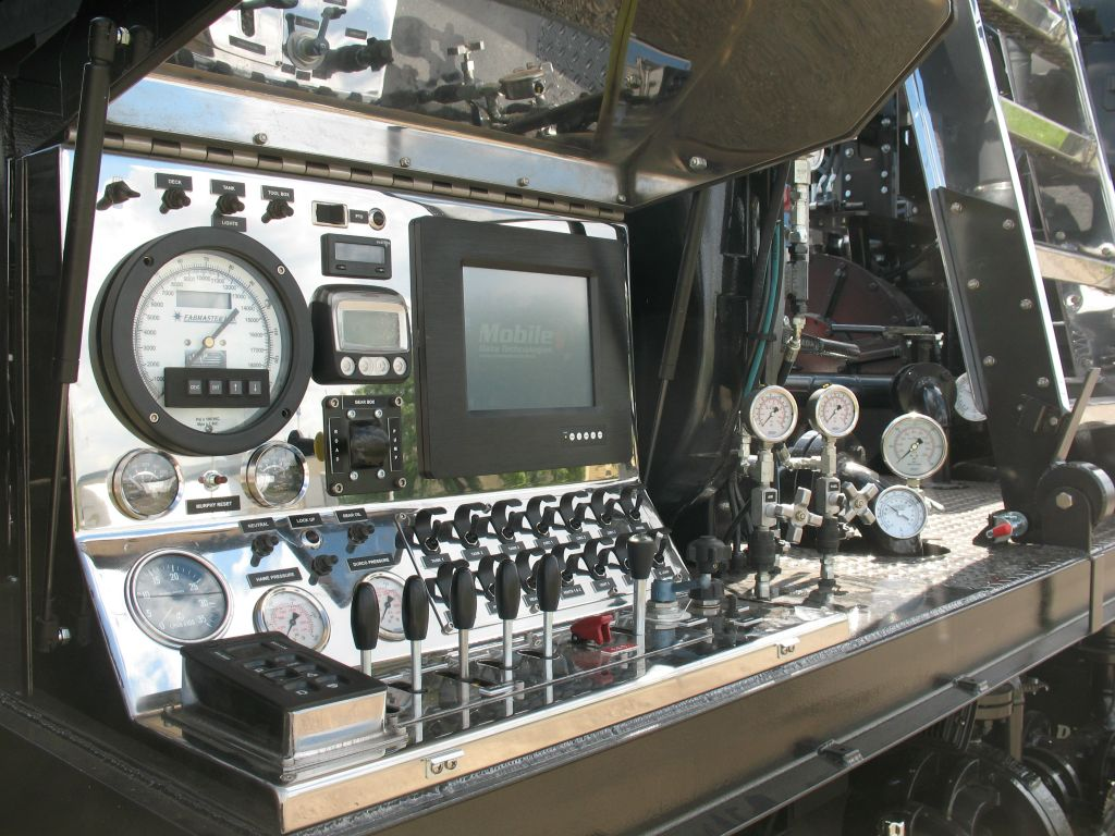 view of truck controls