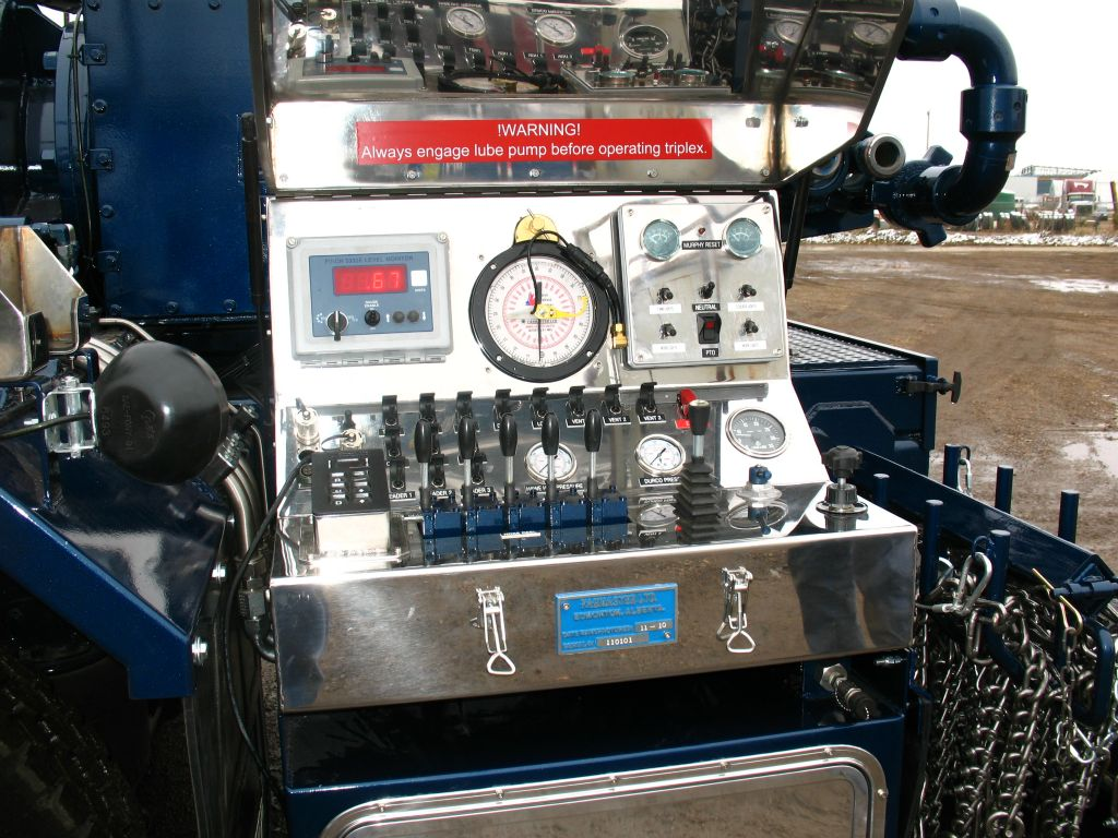 controls and devices installed on truck
