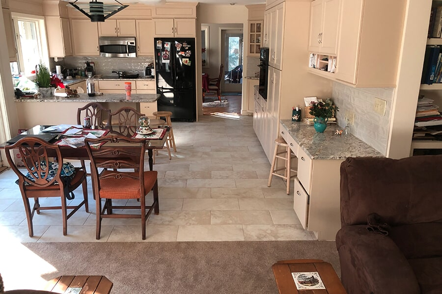 Kitchen flooring renovation from Summerlin Floors in Amherst, MA