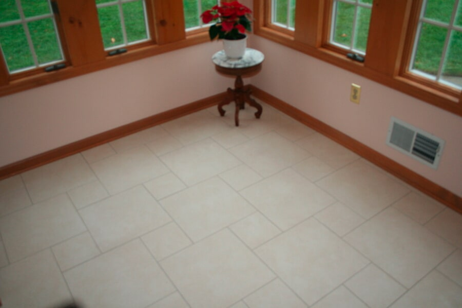 Custom pattern tile flooring installation in Rumson, NJ from Carpets with a Twist