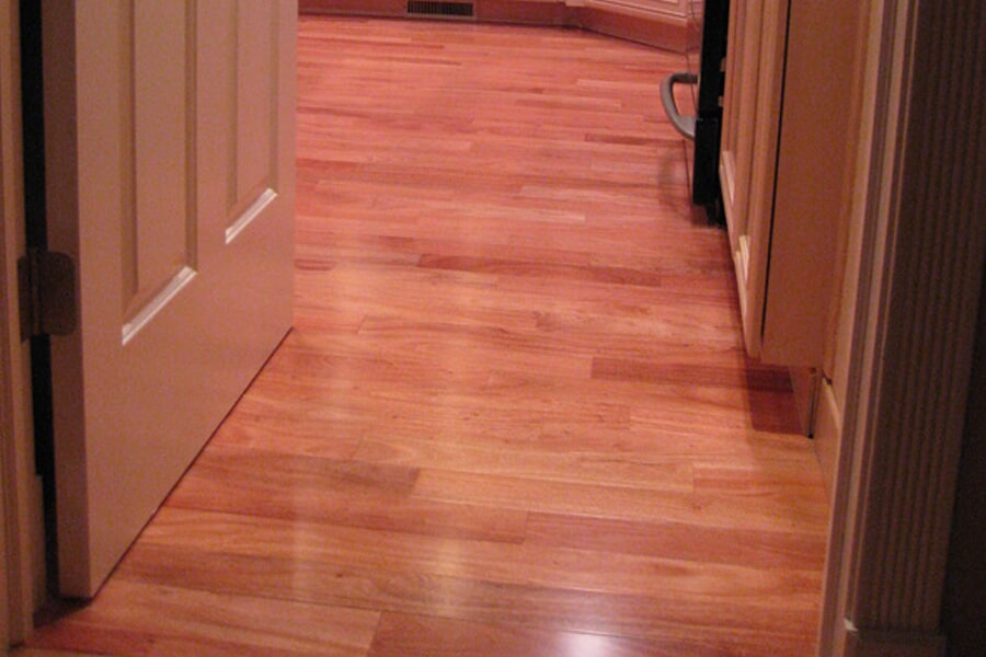 Medium tone hardwood flooring in Red Bank, NJ from Carpets with a Twist
