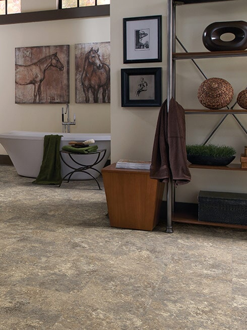 Luxury vinyl tile flooring in Fountain Valley, CA from Bixby Plaza Carpets & Flooring