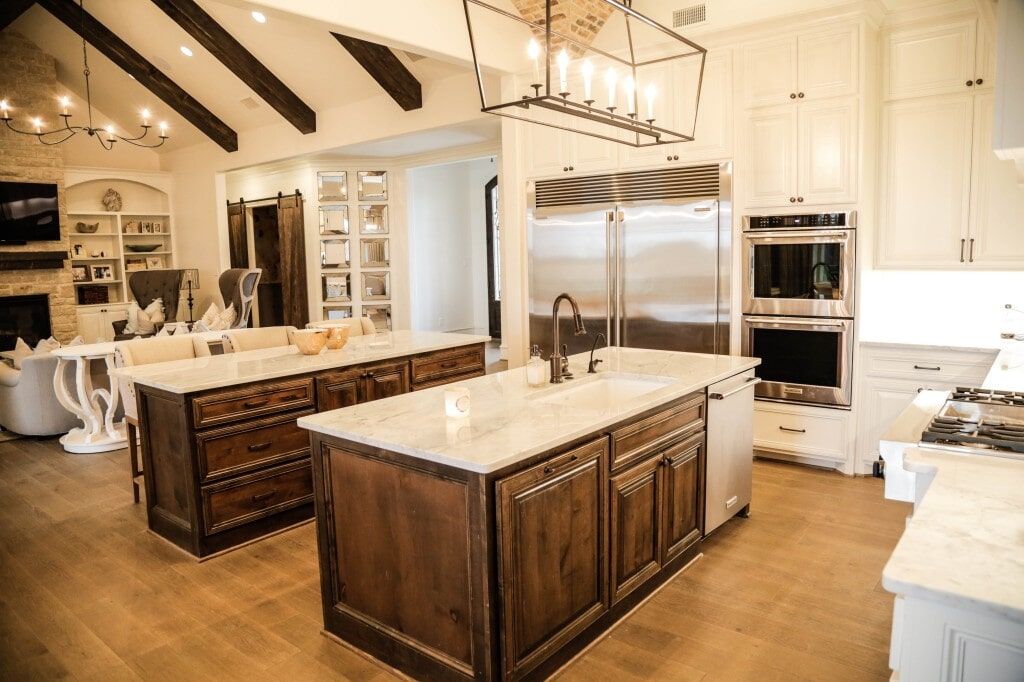Total kitchen remodel with new floors by Yates Flooring Center