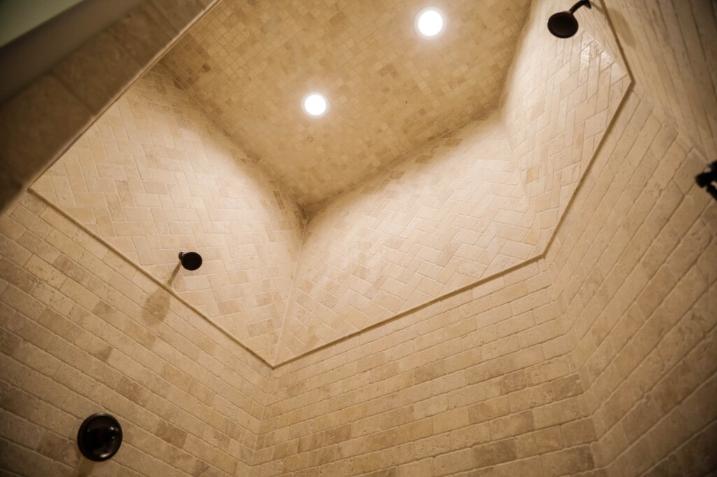 Custom tile shower by Yates Flooring Center