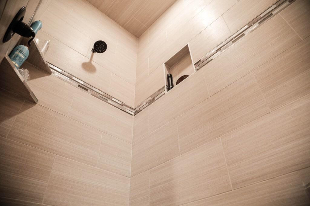 Custom tile shower surround by Yates Flooring Center (2)