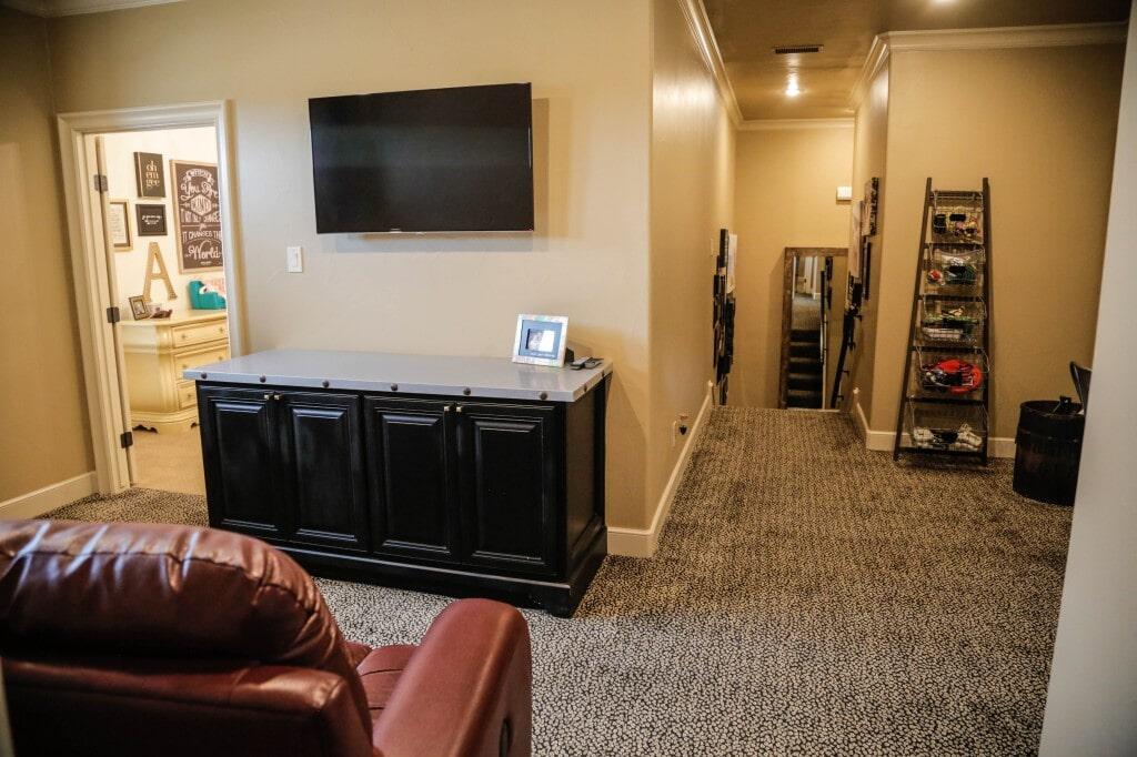 Berber carpet intallation by Yates Flooring Center
