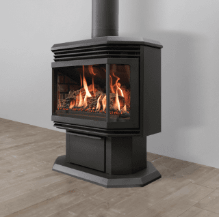 View of a fireplace