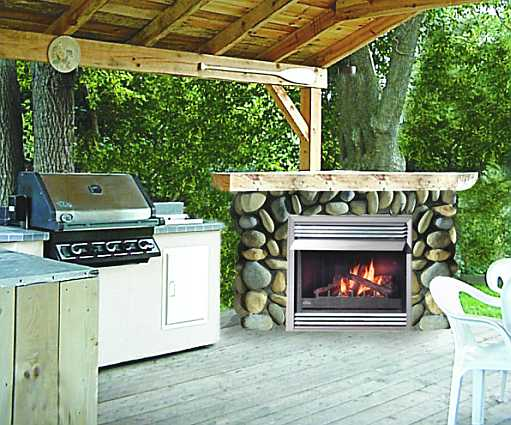 outdoor fireplace unit