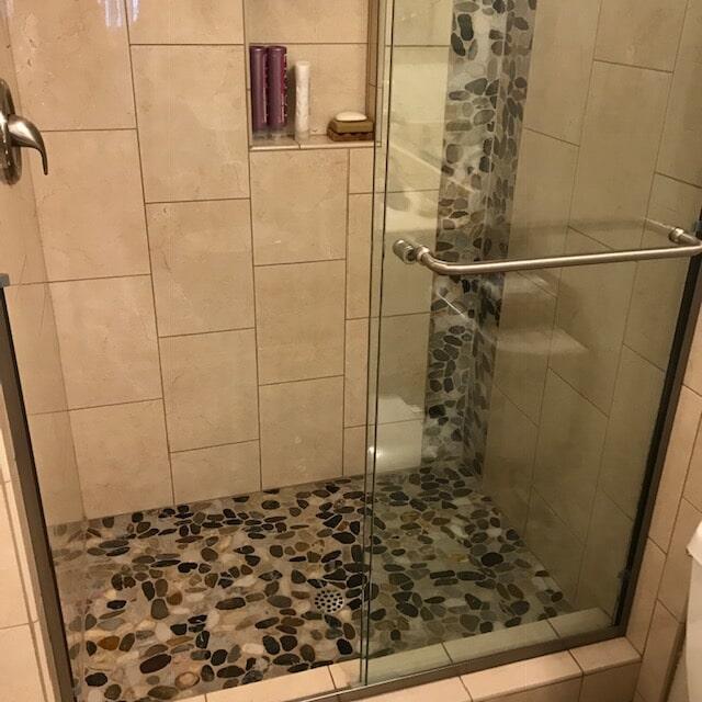 Shower tile installation and remodel