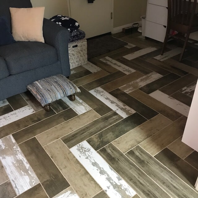 Stylized flooring installation and designs