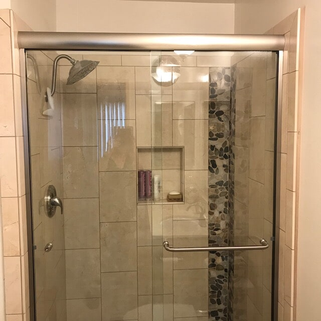 Shower remodeling and tile installation
