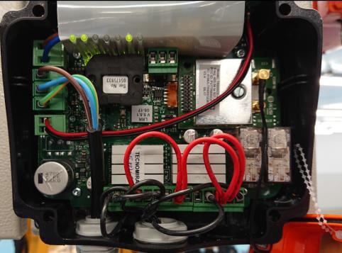Instalação de controle remoto