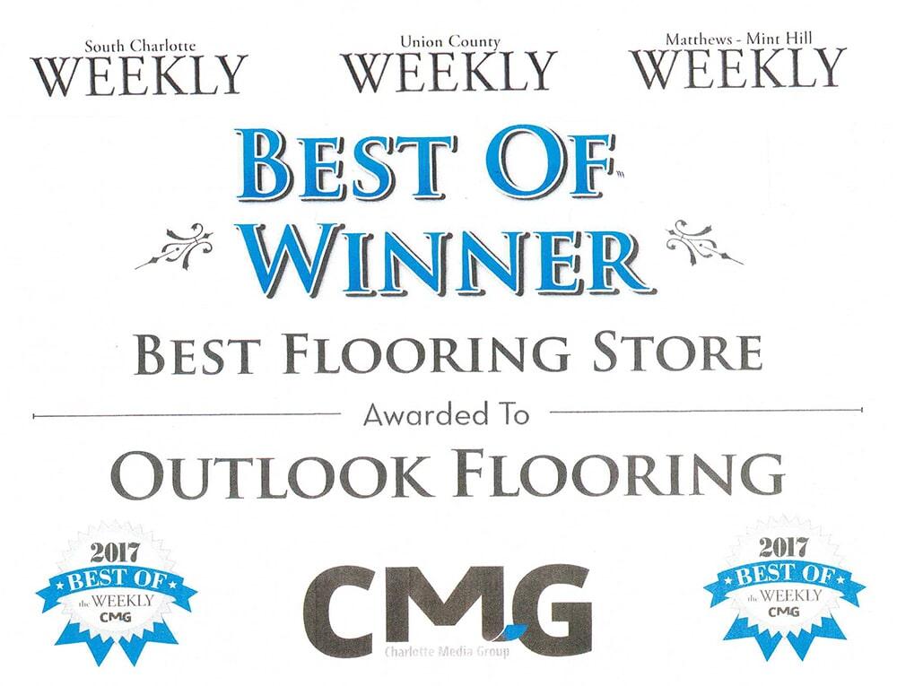 Best of winner, best flooring sale to Outlooks Flooring