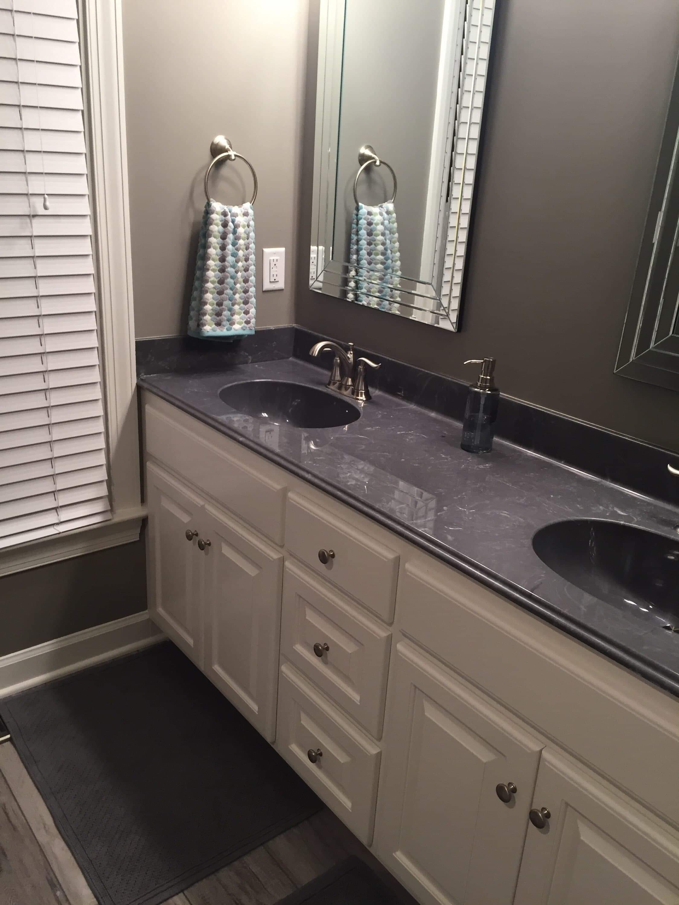 Bathroom vinyl & Hardwood Flooring Renovations