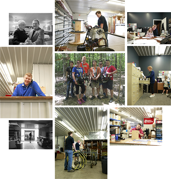 Collage of People working at Penn Yan