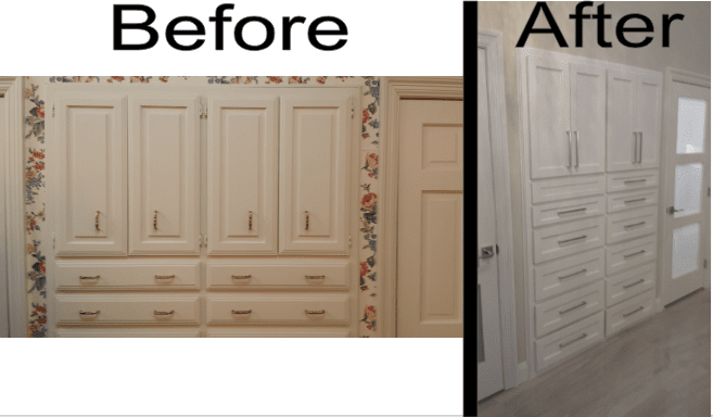 Complete Before and After Cabinents 1