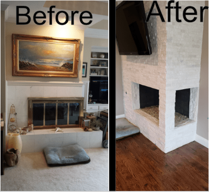 Complete Before and After Fireplace 1