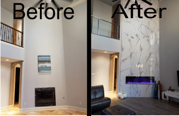 Complete Before and After Fireplace 2