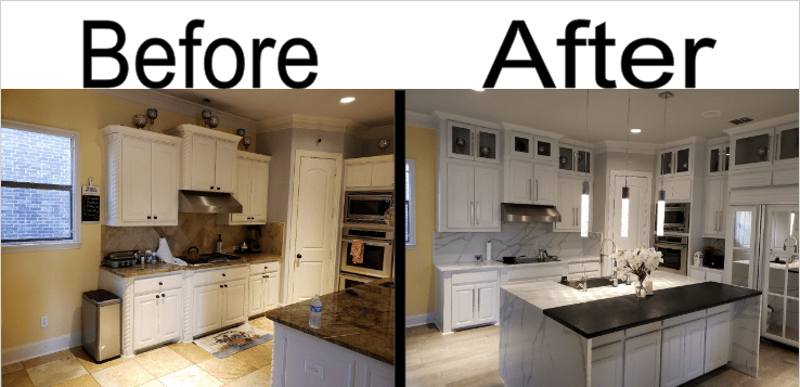 Complete Before and After Kitchen 1