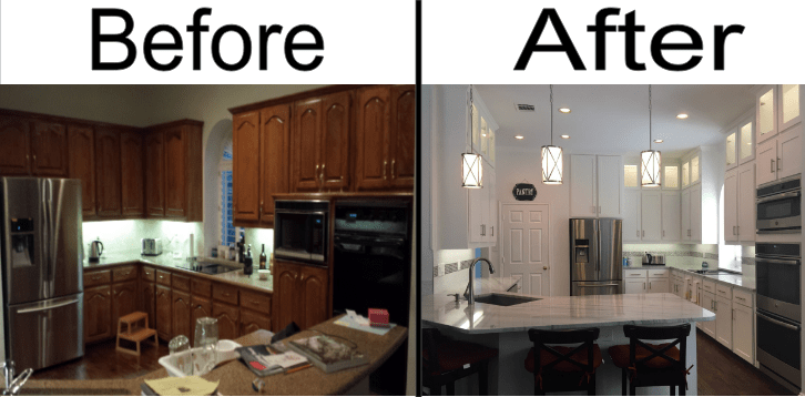 Complete Before and After Kitchen 2
