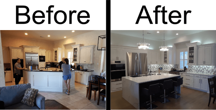 Complete Before and After Kitchen 3