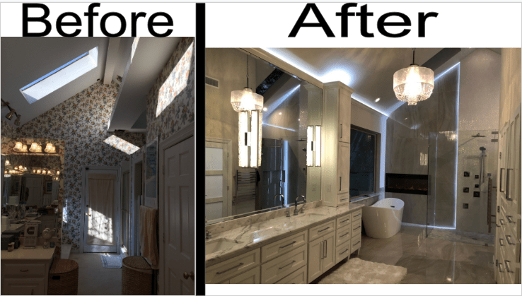 Complete Before and After Shower 1