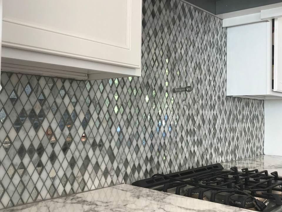 Glass tile backsplash in Mount Pleasant, SC from Flooring Factory