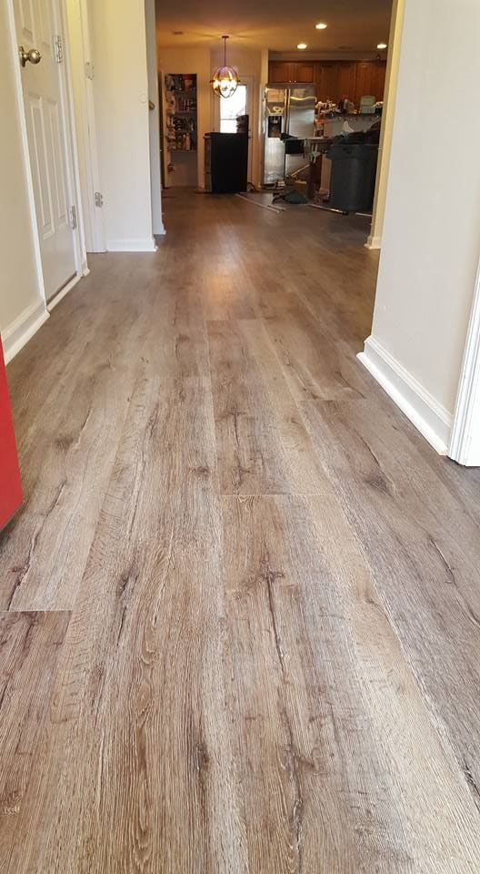 Entryway flooring installation in Mount Pleasant, SC from Flooring Factory
