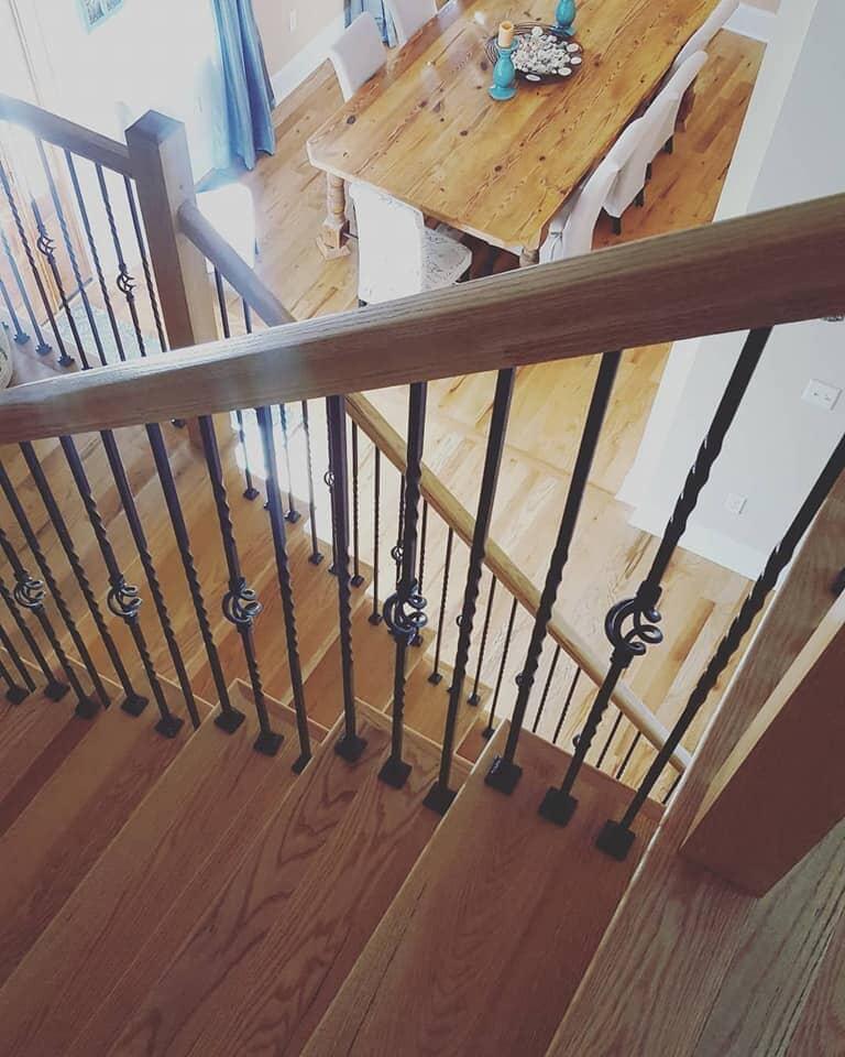 Custom wood stairway in Daniel Island, SC from Flooring Factory