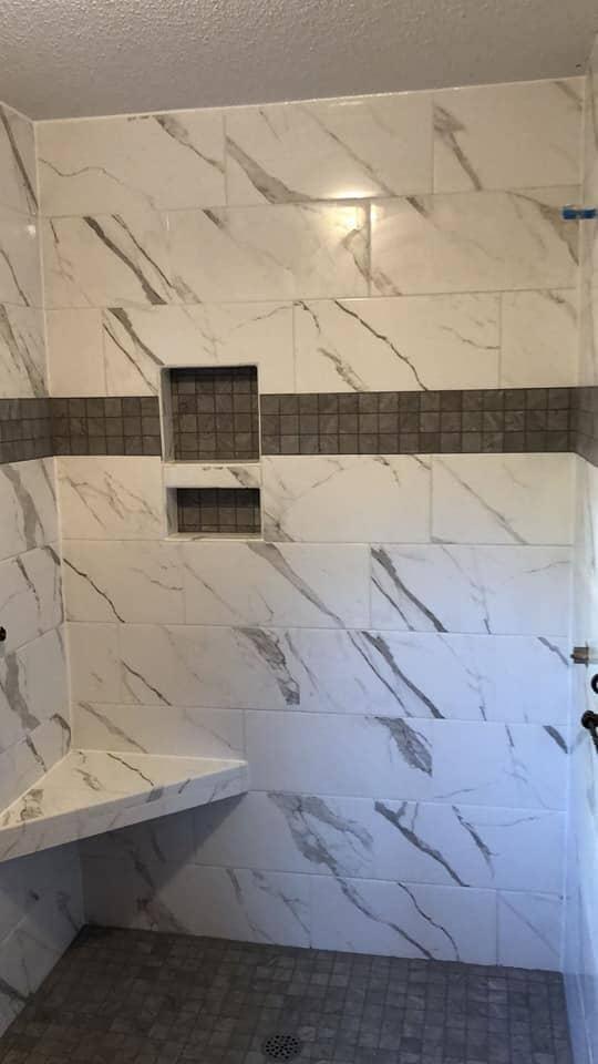 Custom shower installation in Summerville, SC from Flooring Factory