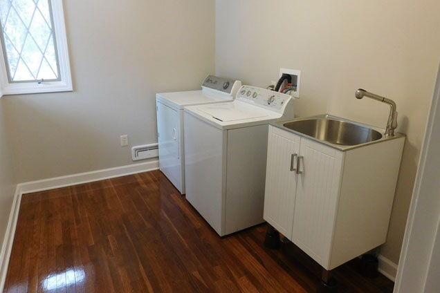After a laundry room renovation in Lemont, IL from Twin Oaks Carpet Ctr LTD