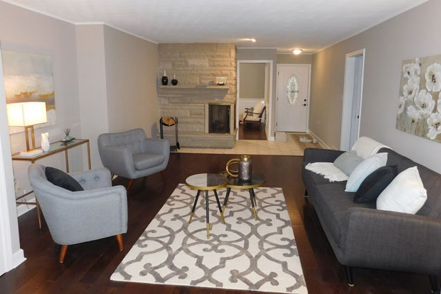 After a living space renovation in Plainfield, IL from Twin Oaks Carpet Ctr LTD