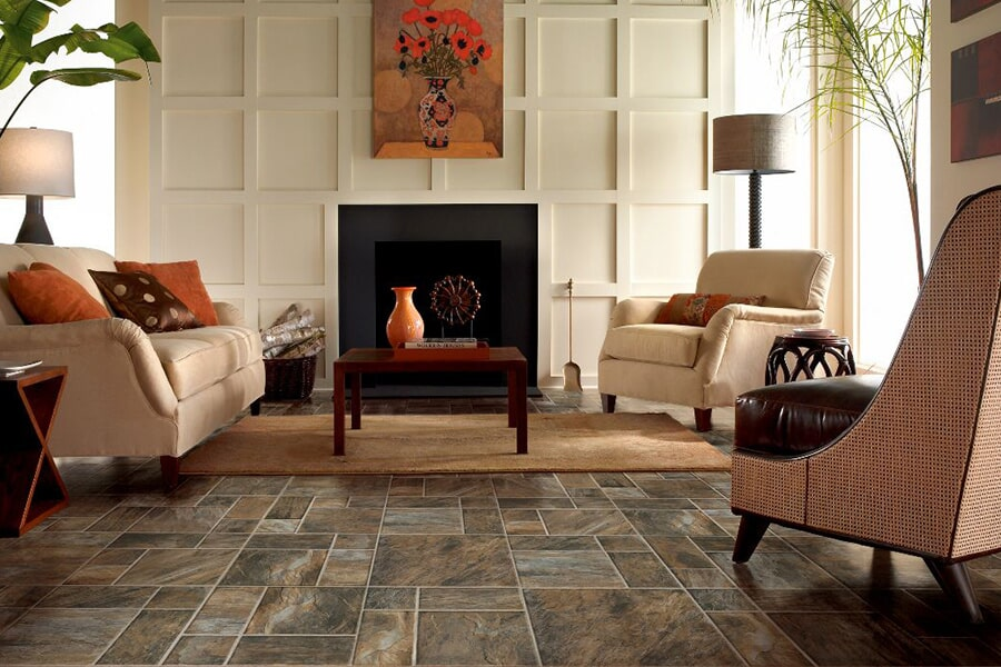 Modern port stone flooring in Greensboro, AL from Crimson Carpet and Flooring
