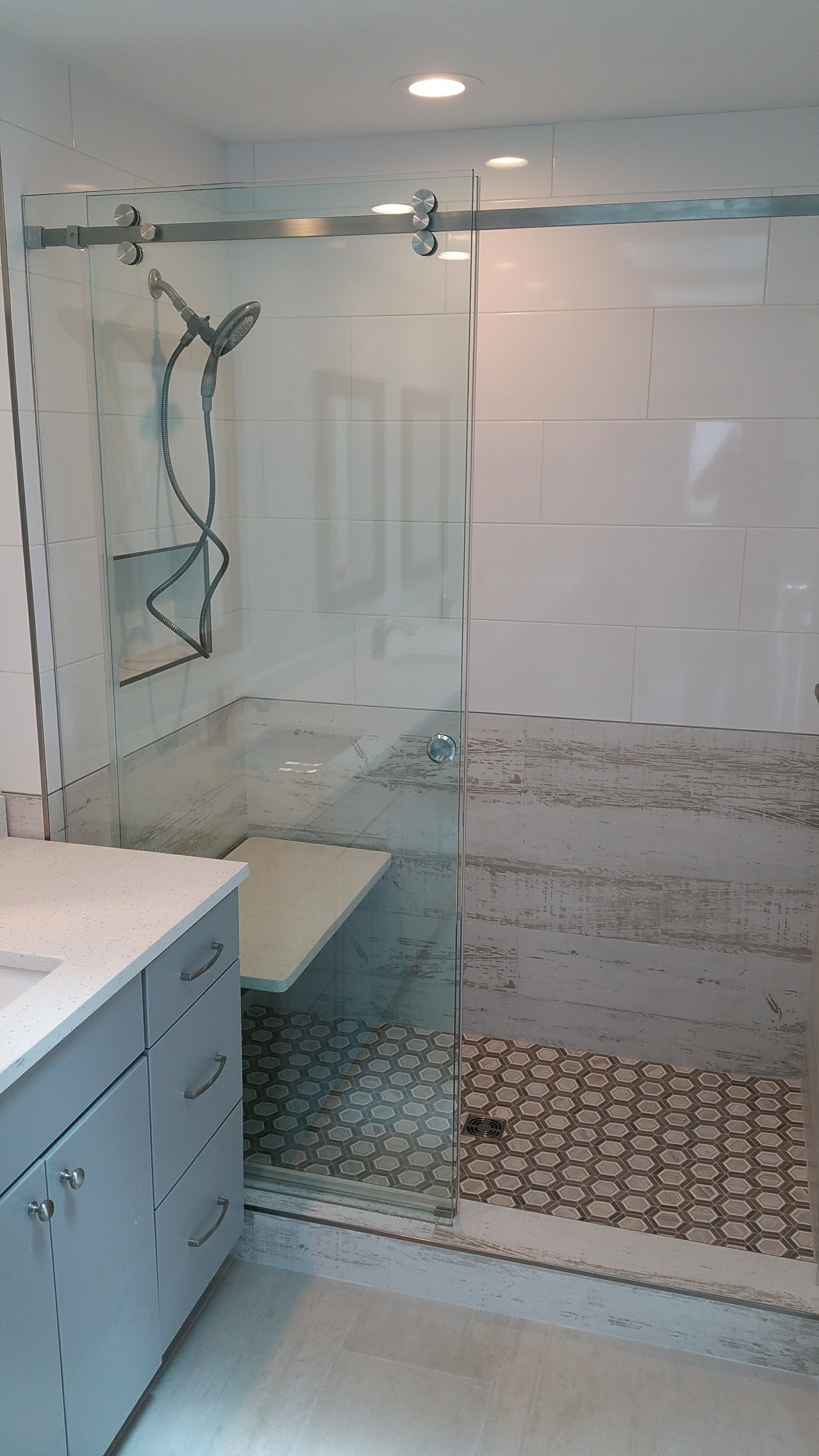 Shower Remodel and bench installation from Relo Interior Services