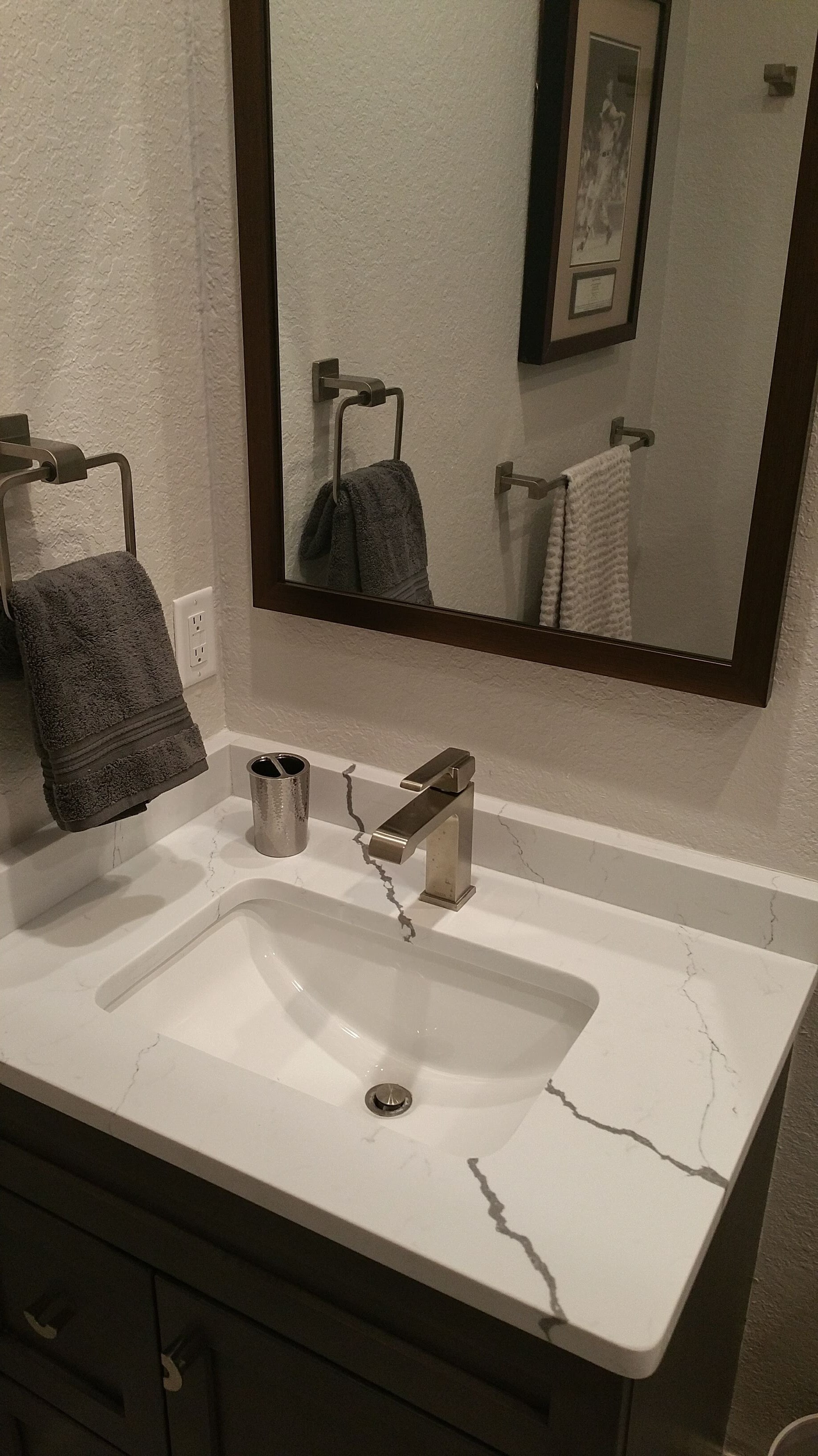 Relo Interiors Service's small bathroom remodel with vanity