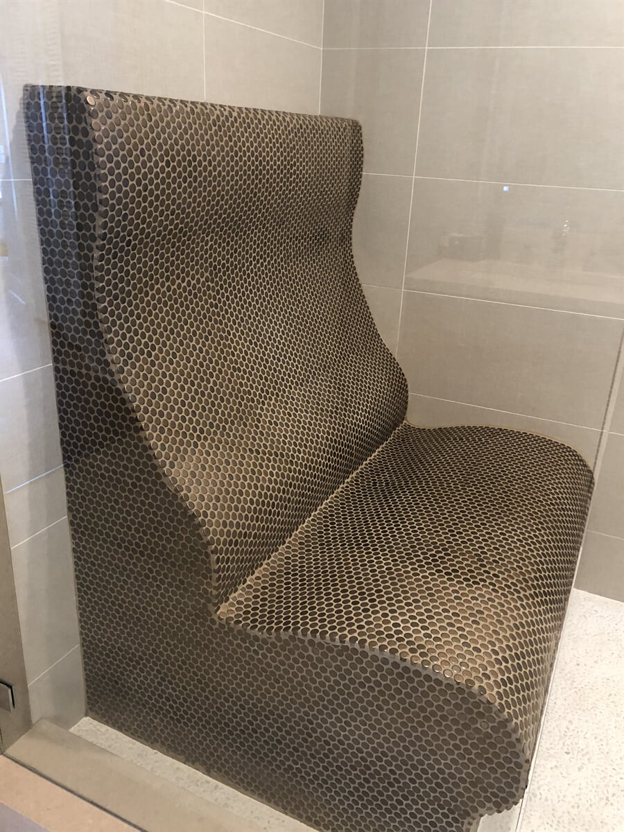 Custom shower and shower bench remodel in St Petersburg