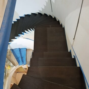 Stair work in progress