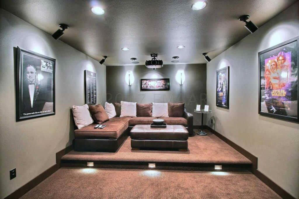 Carpet in Home Theatre Remodel in Fargo
