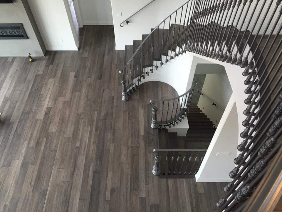 hardwood flooring used in this home remodel in Horace, ND