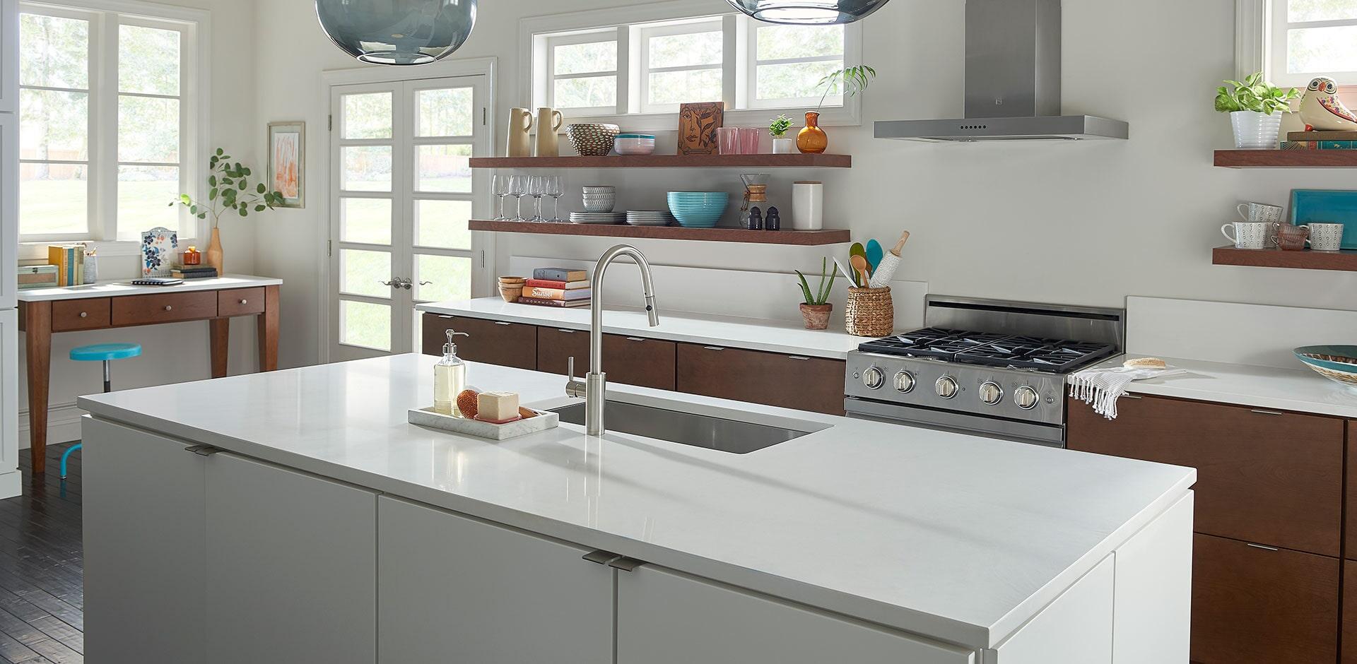 arctic white quartz counter tops