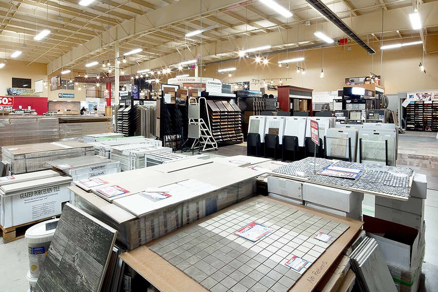 The Ritchie's Flooring Warehouse showroom has everything for your Dieppe, NB home