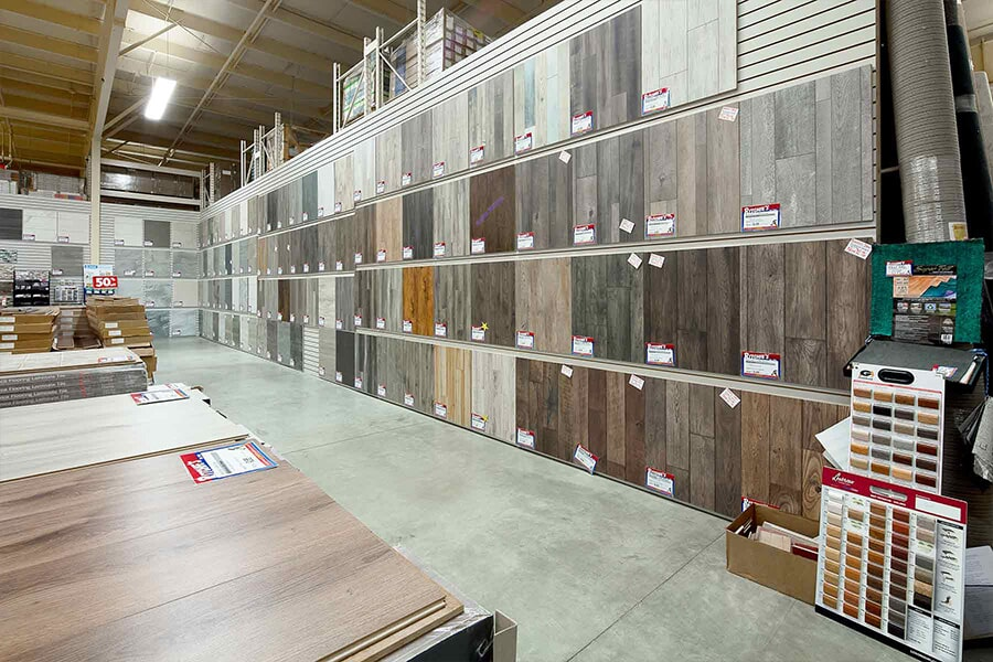 The Ritchie's Flooring Warehouse showroom has everything for your Shediac, NB home