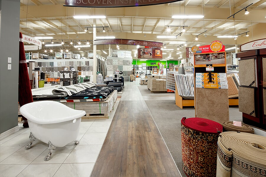 The Ritchie's Flooring Warehouse showroom has everything for your Amherst, NS home