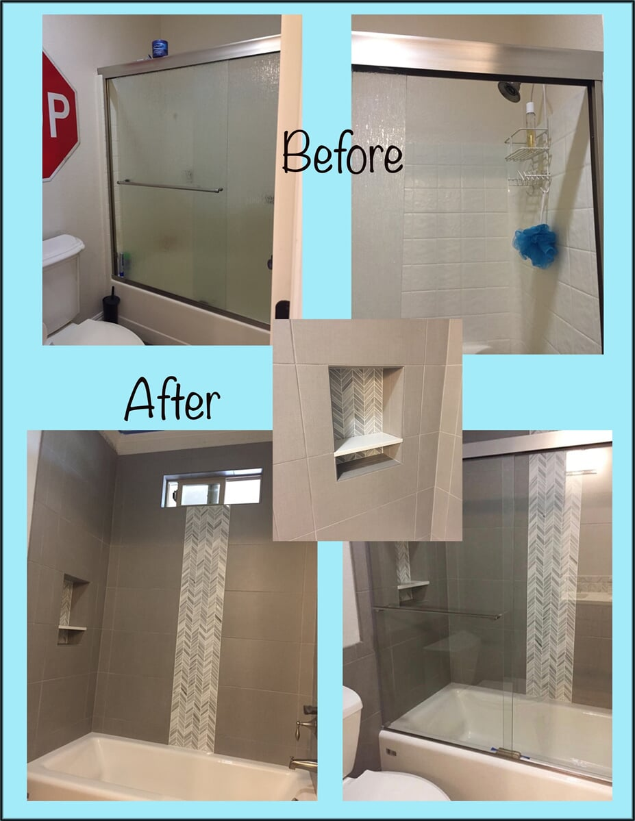Before and After Mosaic tile in Folsom CA from Des