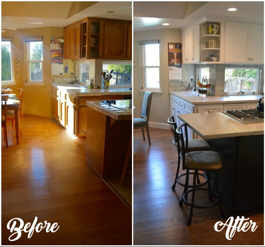 Before and after Kitchen remodeling in Granite bay