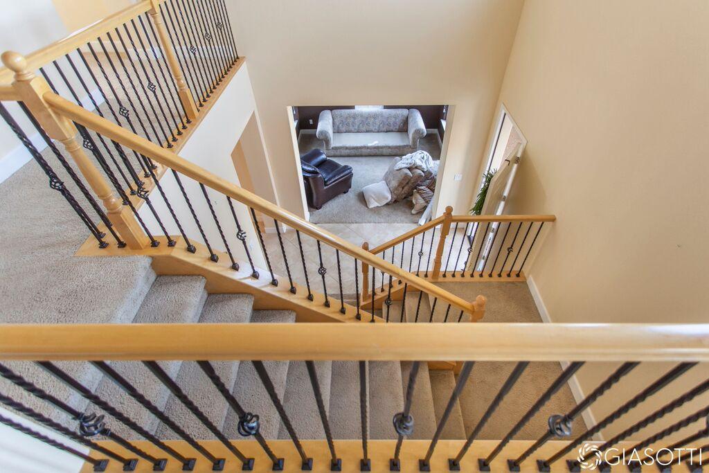 Before carpet staircase custom remodel in El Dorad