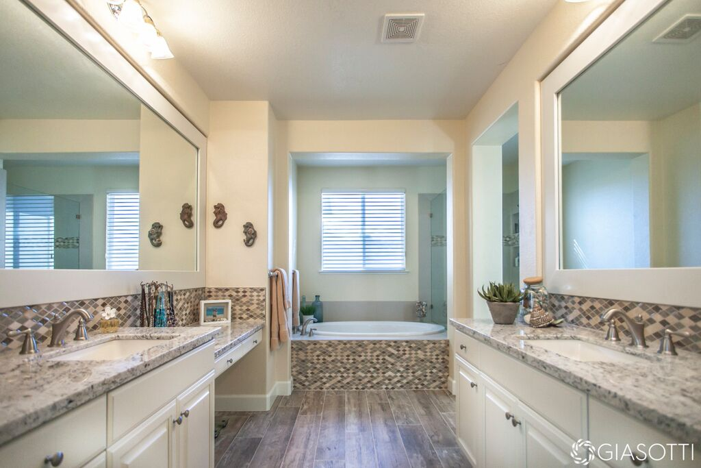 Luxury tile bathroom after in Granite Bay CA from